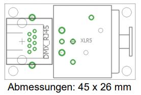 9910002086 DMX-RJ45-XLR5 Adapter p